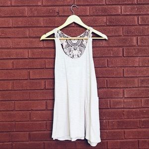 {Sun and Shadow} NWT Embroidered Tank